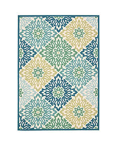 Waverly® Sun n' Shade Indoor/Outdoor Sweet Things Marine Area Rugs - Online Only