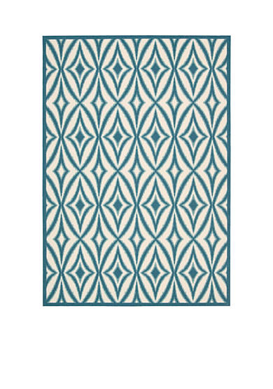 Waverly® Sun n Shade Indoor/Outdoor Centro Azure Area Rugs - Online Only