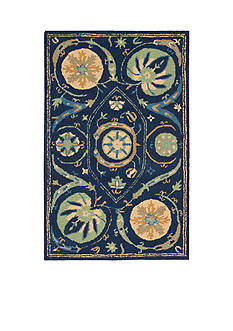 Nourison SUZ04 BLUE 4X6