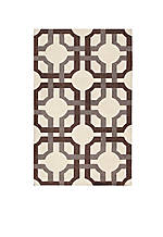 "Artisanal Delight Groovy Grille Tobacco Area Rug 2'6"" x 4'"