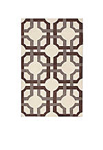 Artisanal Delight Groovy Grille Tobacco Area Rug 4' x 6'