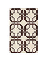 Artisanal Delight Groovy Grille Tobacco Area Rug 5' x 7'