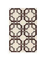 Artisanal Delight Groovy Grille Tobacco Area Rug 8' x 10'