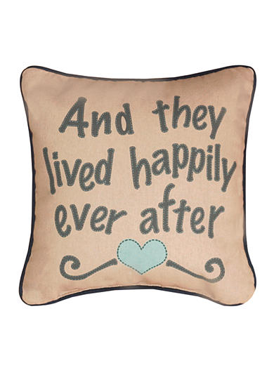 Manual Woodworkers Happily Ever After Decorative Pillow - Online Only