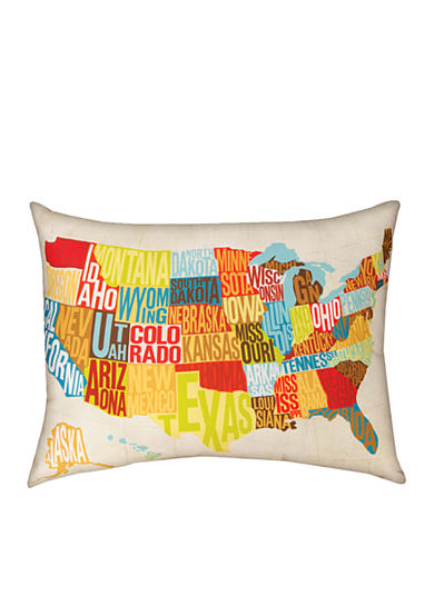 Manual Woodworkers Across the Country Decorative Pillow - Online Only