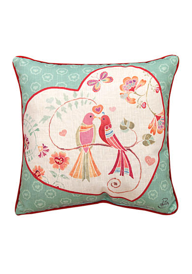 Manual Woodworkers Love Birds Decorative Pillow - Online Only