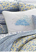 Carlie Floral Ribbon Decorative Pillow 16-in. x 16-in.