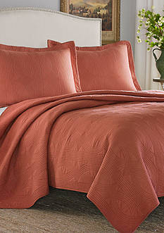 Stone Cottage Arbor Twin Quilt/Sham Set in Cayenne