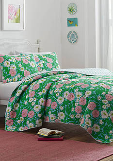 Poppy & Fritz Poppy Garden Full/Queen Quilt & Sham Set