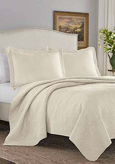 Stone Cottage Arbor Twin Quilt/Sham Set in Ivory