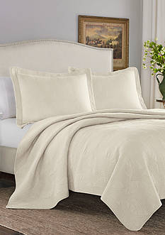 Stone Cottage Arbor King Quilt/Sham Set in Ivory