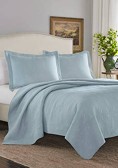Stone Cottage Arbor Twin Quilt/Sham Set in Breeze Blue