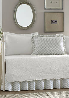 Stone Cottage Trellis Daybed Set in White