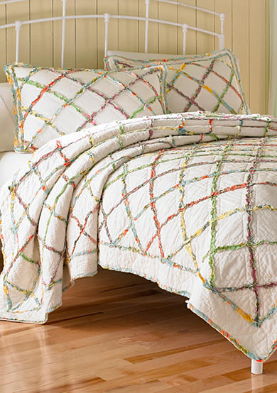 Laura Ashley Ruffled Garden Quilt Collection - Online Only