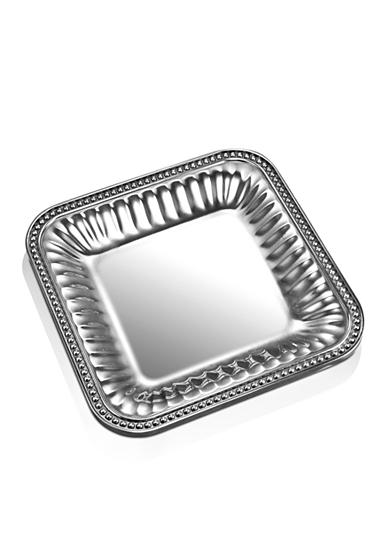 Wilton Armetale Flutes and Pearls 9-in. Square Tray