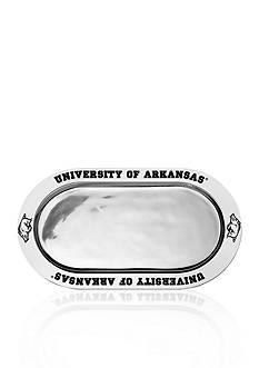 Wilton Armetale Arkansas Razorbacks Large Oval Tray