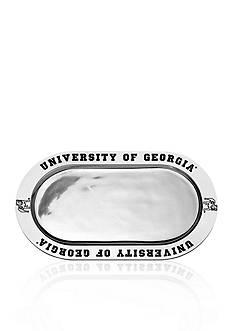 Wilton Armetale Georgia Bulldogs Large Oval Tray