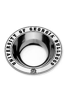 Wilton Armetale Georgia Bulldogs Medium Round Bowl