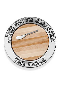 Wilton Armetale UNC Tar Heel Small Round Tray With Cheese Board