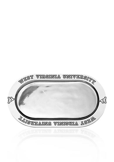 Wilton Armetale West Virginia Mountaineers Large Oval Tray