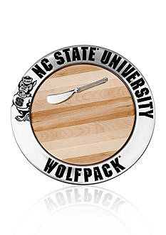 Wilton Armetale NC State Wolfpack Small Round Cheese Board