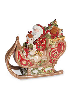 Fitz and Floyd Damask Holiday Cookie Jar