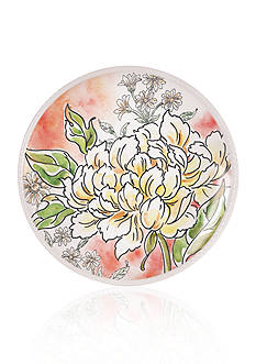 Fitz and Floyd Savannah Home Peony Accent Plate