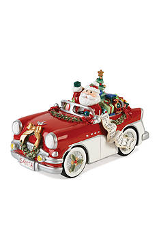 Fitz and Floyd MERRY& BRIGHT SANTA IN CAR MUSICAL