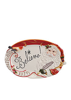 Fitz and Floyd Regal Holiday Sentiment Tray - Believe