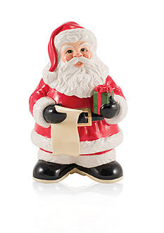 Fitz and Floyd Letters to Santa Cookie Jar with Dry Erase Marker