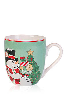 Fitz and Floyd Top Hat Frosty Collection, set of 2, Coffee/Cake Mugs
