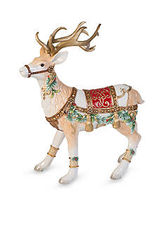 Fitz and Floyd Yuletide Holiday Collection Deer Figurine