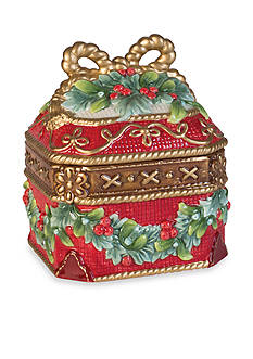 Fitz and Floyd Yuletide Holiday Collection Lidded Box