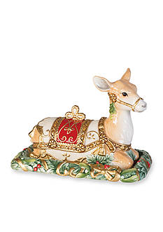 Fitz and Floyd Yuletide Holiday Covered Butter Dish