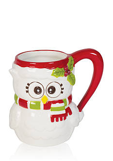 Fitz and Floyd Holiday Hoot Collection Owl Mug