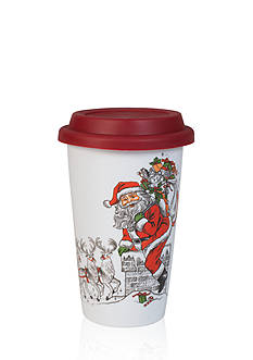 Fitz and Floyd Vintage Holiday Travel Mug