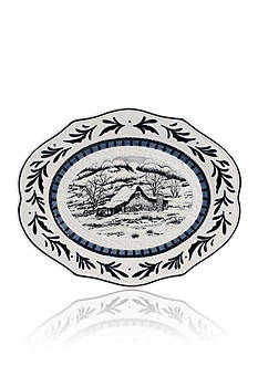 Fitz and Floyd Bristol Holiday Platter w/ Winter Decal
