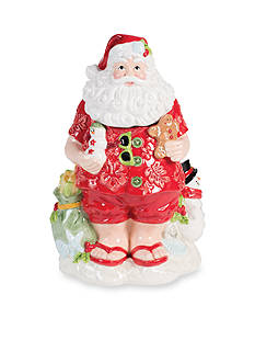 Fitz and Floyd Coastal Claus Cookie Jar