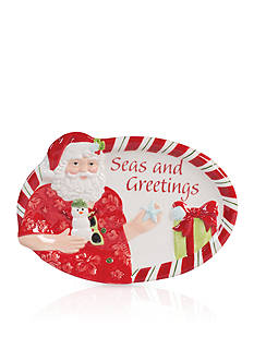 Fitz and Floyd Coastal Claus 'Seas and Greetings' Sentiment Tray