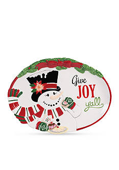 Fitz and Floyd Top Hat Frosty Sentiment Tray