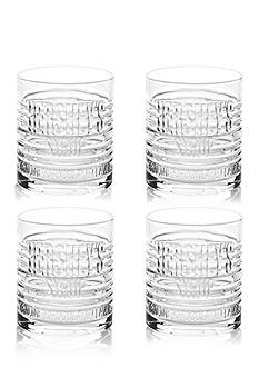 Fitz and Floyd Hershey's Syrup Can Mug Short Tumbler, Set of 4