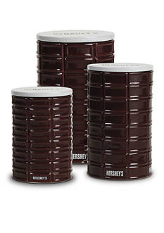 Fitz and Floyd Hershey's PIP Canister, Set of 3