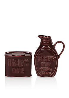 Fitz and Floyd Hershey's Syrup-Cocoa Sugar-Creamer Set
