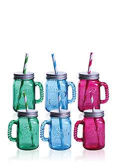 Fitz and Floyd Jolly Rancher Jolly Jars Blue Raspberry/Green Apple/Grape, 16-oz, Set of 6