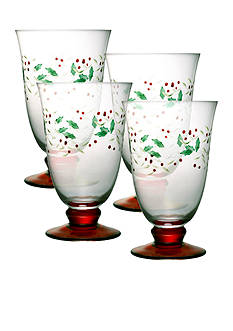 Pfaltzgraff Winterberry Water Goblet Set of 4