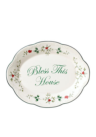 Pfaltzgraff Winterberry Bless This House Platter