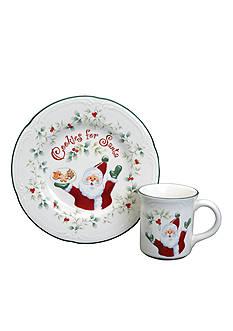 Pfaltzgraff Winterberry Cookies and Milk for Santa Set