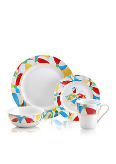 Pfaltzgraff Beach Ball 16-Piece Dinnerware Set