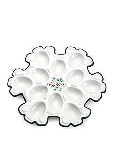 Pfaltzgraff Winterberry Snowflake Egg Plate