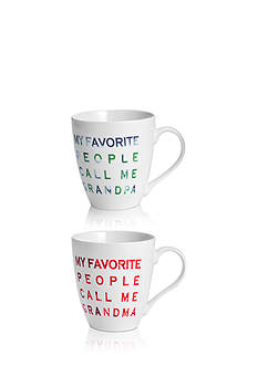 Pfaltzgraff Set of 2 18-oz. Favorite People Grandpa and Grandma Mugs